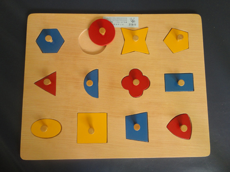 几何图形木插板